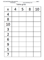 math worksheet : tables worksheet 4x 5x 8x and 10 x tables  maths blog : Maths Times Table Worksheets