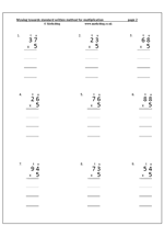 math worksheet : multiplying using column method worksheet  column multiplication  : Column Multiplication Worksheet