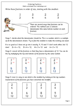 math worksheet : year 6 maths worksheet ordering fractions  maths blog : Ordering Fractions Worksheet Ks2