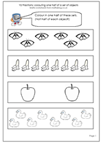 math worksheet : year 2 maths worksheet finding halves pg 2  maths blog : Fractions Of A Set Worksheets