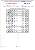 Resource of the week times tables number search maths blog for 12 days of christmas table numbers