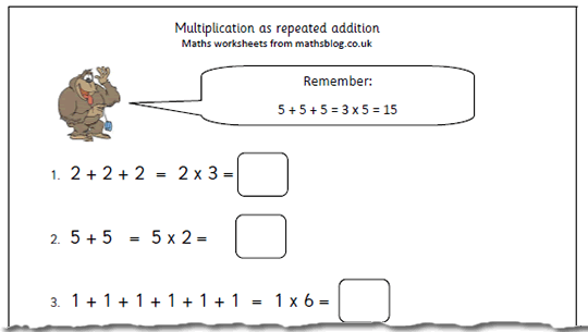 math worksheet : maths worksheet multiplication as repeated addition  maths blog : Repeated Addition Multiplication Worksheets