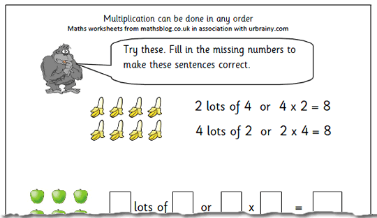 Division homework year 2 – Math for Year 2 Printable Worksheet