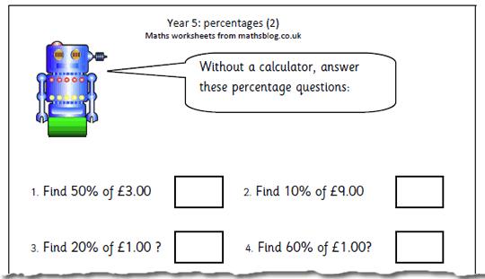 Year 5 Maths Worksheets Percentages Yourhelpfulelf – Year 5 Worksheets Maths