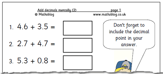 Free Worksheets Subtracting Decimals Worksheets Ks2 Free Math – Decimal Addition Worksheet