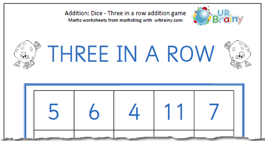 dice_3_in_a_row_addition_game