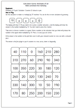 math worksheet : calculator game multiples of 10  maths blog : Multiples Of 10 Worksheet
