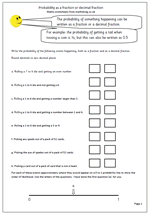 math worksheet : year 6 probability worksheet  maths blog : Maths Probability Worksheets