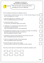 math worksheet : year 6 maths worksheet probability as a fraction  maths blog : Maths Probability Worksheets