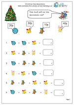 math worksheet : year 2 maths worksheet christmas decorations  maths blog : Year 2 Maths Worksheets