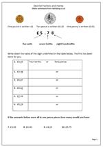 math worksheet : year 4 maths worksheet decimal fractions and money  maths blog : Decimals And Money Worksheets