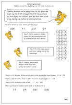 math worksheet : year 6 maths worksheet ordering decimals  maths blog : Ordering Decimals Worksheets