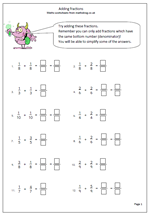 math worksheet : calculating year 4  maths blog : Fraction Worksheets For Year 4