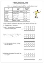 math worksheet : year 3 maths worksheet money problems  maths blog : Football Maths Worksheets