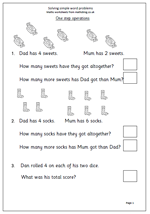 math worksheet : year 1 maths worksheet solve simple word problems  maths blog : Year 6 Maths Word Problems Worksheets