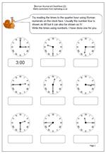 roman numerals clock 2